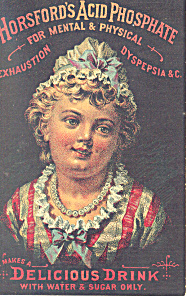 Horsfords Acid Phosphate Patent Medicine Trade Card
