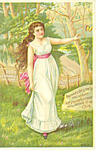 Hall s Vegtable Sicilian Hair Renewer Trade Card p16115 (Image1)