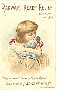 Radways Ready Relief For Pain Trade Card