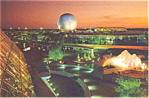 Future World Epcot Center Postcard P1613