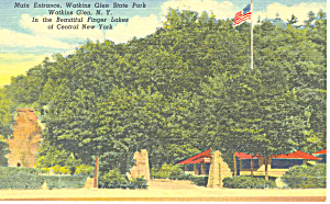 Main Entrance Watkins Glen Ny Postcard P16145