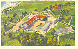Aerial View Fort Ticonderoga NY Postcard p16148 (Image1)