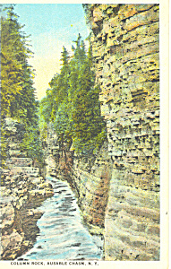 Column Rock Ausable Chasm Ny Postcard P16149
