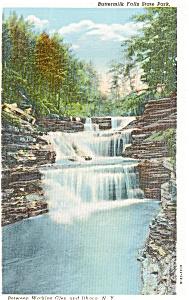 Watkins Glen NY Buttermilk Falls Postcard (Image1)