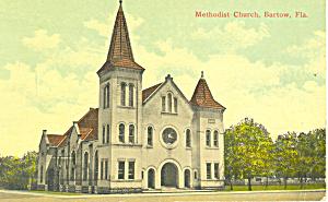 Methodist Church, Bartow, FL Postcard (Image1)
