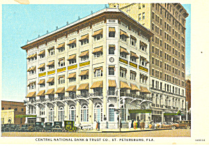 Central National Bank, St Petersburg, FL  Postcard (Image1)