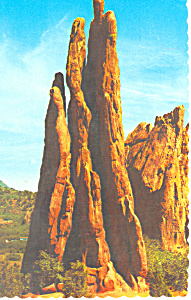 Three Graces Garden Of The Gods Co Postcard P16192