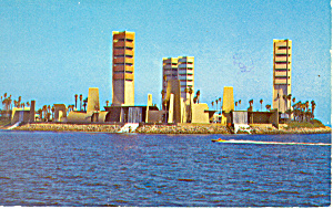 Oil Island Long Beach Ca Postcard P16210