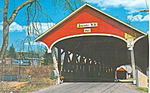 Covered Bridge Lancaster NH Postcard p16216 1975 (Image1)