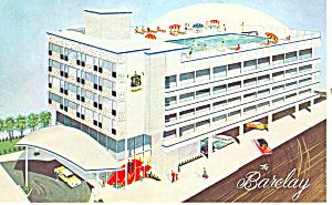 Barclay Motel Atlantic City NJ Postcard p16223 (Image1)