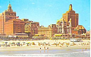 Hotels along Beach Atlantic City NJ Postcard p16224 (Image1)