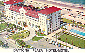 Daytona Plaza Hotel Motel FL Postcard p16240 1967 (Image1)