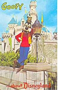 Goofy in Disneyland  CA  Postcard p16262 (Image1)