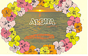 Flower Leis Floating Shoreward in Hawaii  Postcard (Image1)