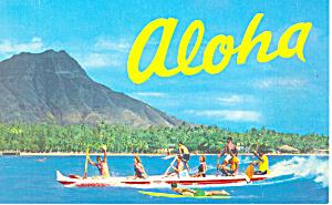 Outrigger Canoe Hawaii Postcard p16273 (Image1)