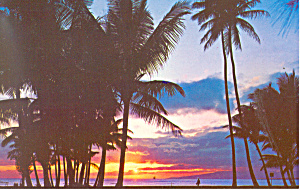 Hawaiian Sunset Postcard (Image1)