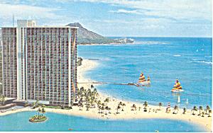Hilton Hawaiian Village Hawaii  Postcard p16283 (Image1)