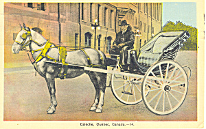 Caleche, Quebec, Canada Postcard 1941 (Image1)