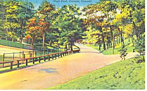 High Park, Toronto, Ontario Postcard 1951 (Image1)