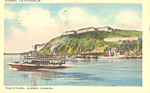 The Citadel, Quebec, Canada  Postcard 1941 (Image1)