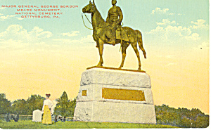 General George Meade  Monument Gettysburg PA  Postcard p16328 (Image1)