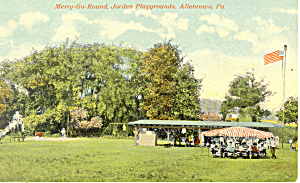 Merry-Go-Round Playgrounds Allentown PA Postcard (Image1)