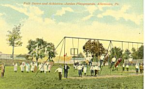 Folk Dance Playgrounds Allentown PA Postcard p16334 (Image1)