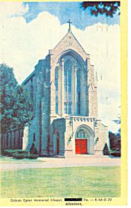 Egner Chapel  Allentown PA Postcard p16337 1957 (Image1)