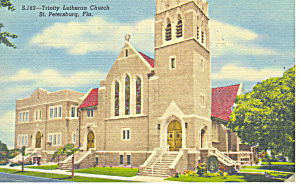 Trinity Lutheran Church St Petersburg FL Postcard p16351 1955 (Image1)