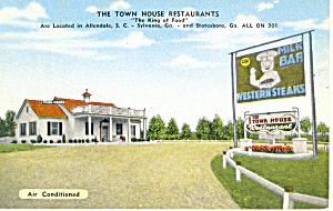 Town House Restaurant  Allendale SC Postcard p16358 (Image1)