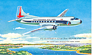 Eastern Airlines Silver Falcon Postcard P16381