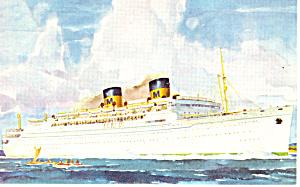 Matson Lines Liner Lurline  Postcard p16384 (Image1)