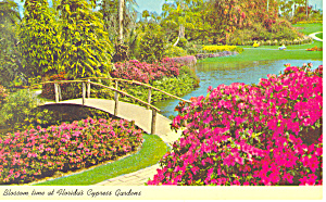 Cypress Gardens,FL, Fairyland of Flowers Postcard (Image1)