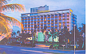 Hollywood FL Diplomat Hotel Postcard p16419 (Image1)