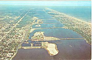 Aerial View Daytona Beach Florida Postcard p16433 (Image1)
