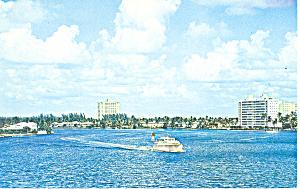 Inland WaterwayFt Lauderdale Florida  Postcard p16448 (Image1)