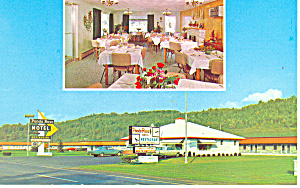 Ponda Rosa Motel, Mansfield, PA Postcard Cars 60s (Image1)