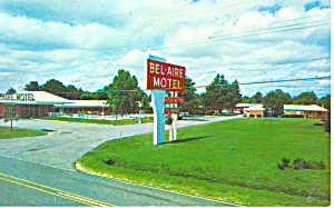 Bel Aire Motel Fayetteville NC Postcard p16486 (Image1)