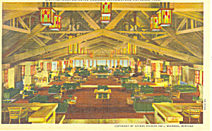 Canyon Hotel Interior , Yellowstone , WY Postcard (Image1)