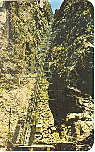 Incline Royal Gorge Canon City CO Postcard p16537 (Image1)