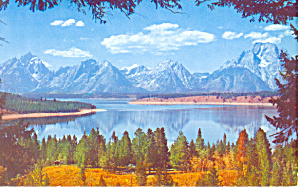Jackson Lake, Wyoming Postcard (Image1)