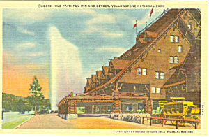 Old Faithful ,Yellowstone National Park,WY Postcard (Image1)