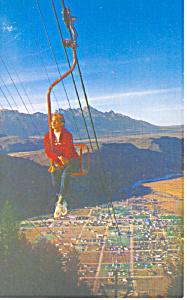 Chair Lift Jackson WY Postcard p16549 (Image1)