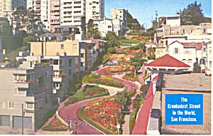 Lombard Street San Francisco CA Postcard p16563 (Image1)