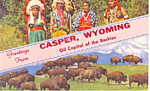 Native Americans, Casper, WY Postcard (Image1)