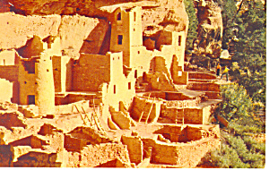 Cliff Palace Mesa Verde National Park CO Postcard p16571 (Image1)