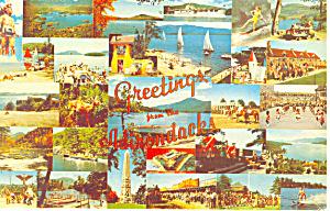 Views of the Adirondacks NY Postcard p16583 (Image1)