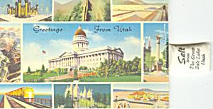 State Capitol Utah Novelty  Postcard p16585 (Image1)