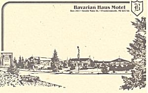 Bavarian Haus Motel Frankenmuth MI Postcard p16597 (Image1)