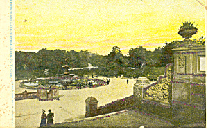 Terrace and Lake, Central Park,NY Postcard (Image1)